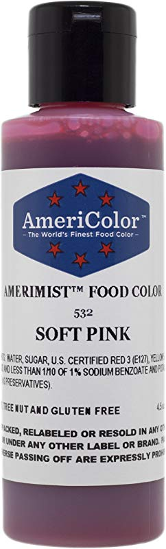 AMERIMIST SOFT PINK AIRBRUSH COLOR 4 5 OZ Cake Decorating Colors