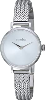 RumbaTime Women's 'Hudson Weave' Quartz Stainless Steel Casual Watch, Color:Silver-Toned (Model: 28348)