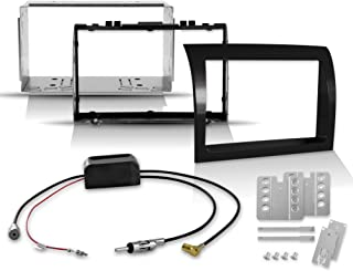 2 DIN Doppel Din Einbauset für Ducato, Jumper, Boxer mit Hochglanz Radioblende + aktivem Antennenverteiler zur Montage von DAB+ Autoradios und Navis   geeignet für Reisemobile Wohnmobile Transporter