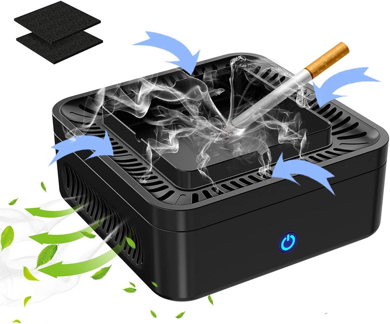 Multifunctional Smokeless Ashtray 国内在庫 USB マーケット for Rechargeable