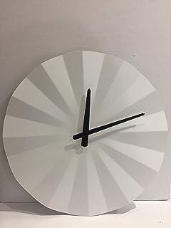 Mascagni 20PWOOD Diametro 30 cm Orologio da Parete in ABS Taglia Unica Effetto Legno con cuc/ù