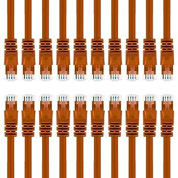 Orange 10ft RJ45 Cat5e 350MHz Molded Patch Cable
