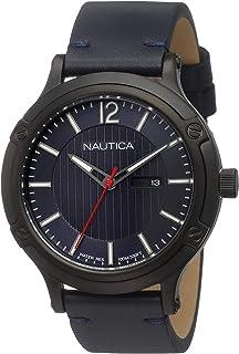 Nautica Homme Analogique Quartz Montre avec Bracelet en Cuir NAPPRH017