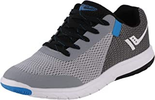 calcetto Latest Collection for Mens Light Grey Blue Nylon Mesh Casual Shoes