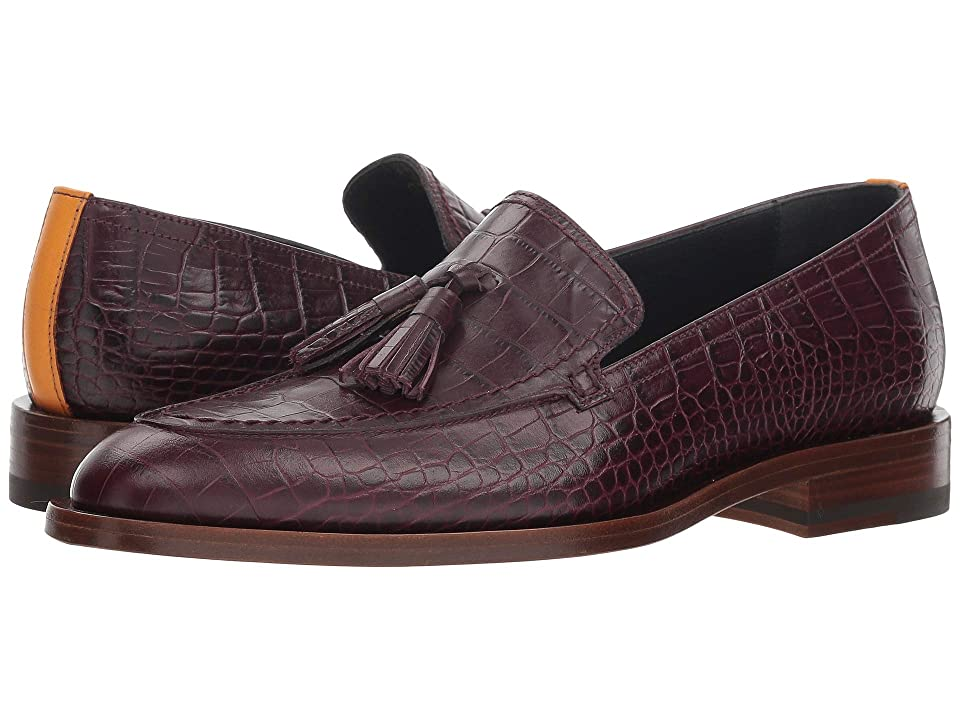 Paul Smith Alexis Croc Embossed Loafer (Bordeaux) Women