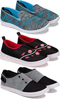 SWIGGY Sneaker, Loafer (Walking) Washable Multicolor Shoes for Women Pack of 3Combo(O)-3217-1641-1637