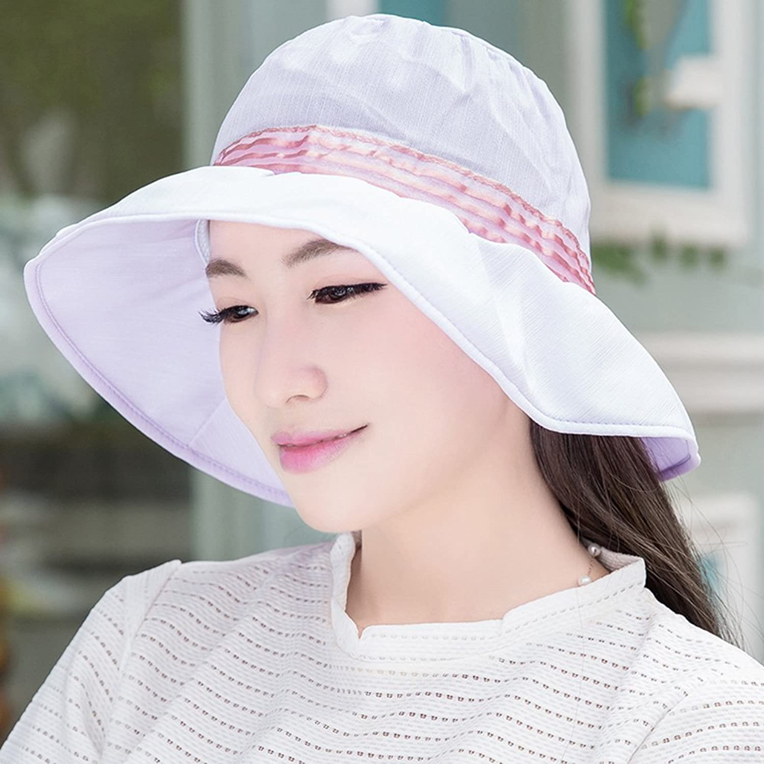 YD Hat Summer Hat, Women Sun Hats AllMatch Sunscreen Floppy Foldable Packable, 16 colors Optional    (color   11 )