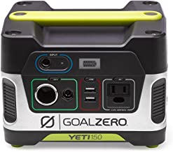 Goal Zero Yeti 150 Portable Power Station, 150Wh Small Generator Alternative with 12V, AC and USB Outputs