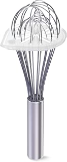 "Whisk Wiper - Wipe a Whisk Easily - Multipurpose Kitchen Tool, Made in USA - Includes 11"" Stainless-Steel Whisk - Cool Bak..."
