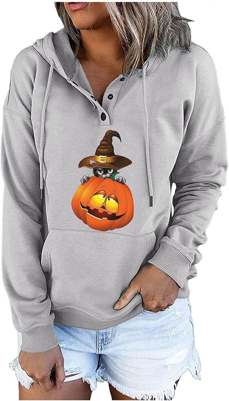 Qawadu Sweatshirt for Women Trendy,Women's Halloween Hoodies Pul