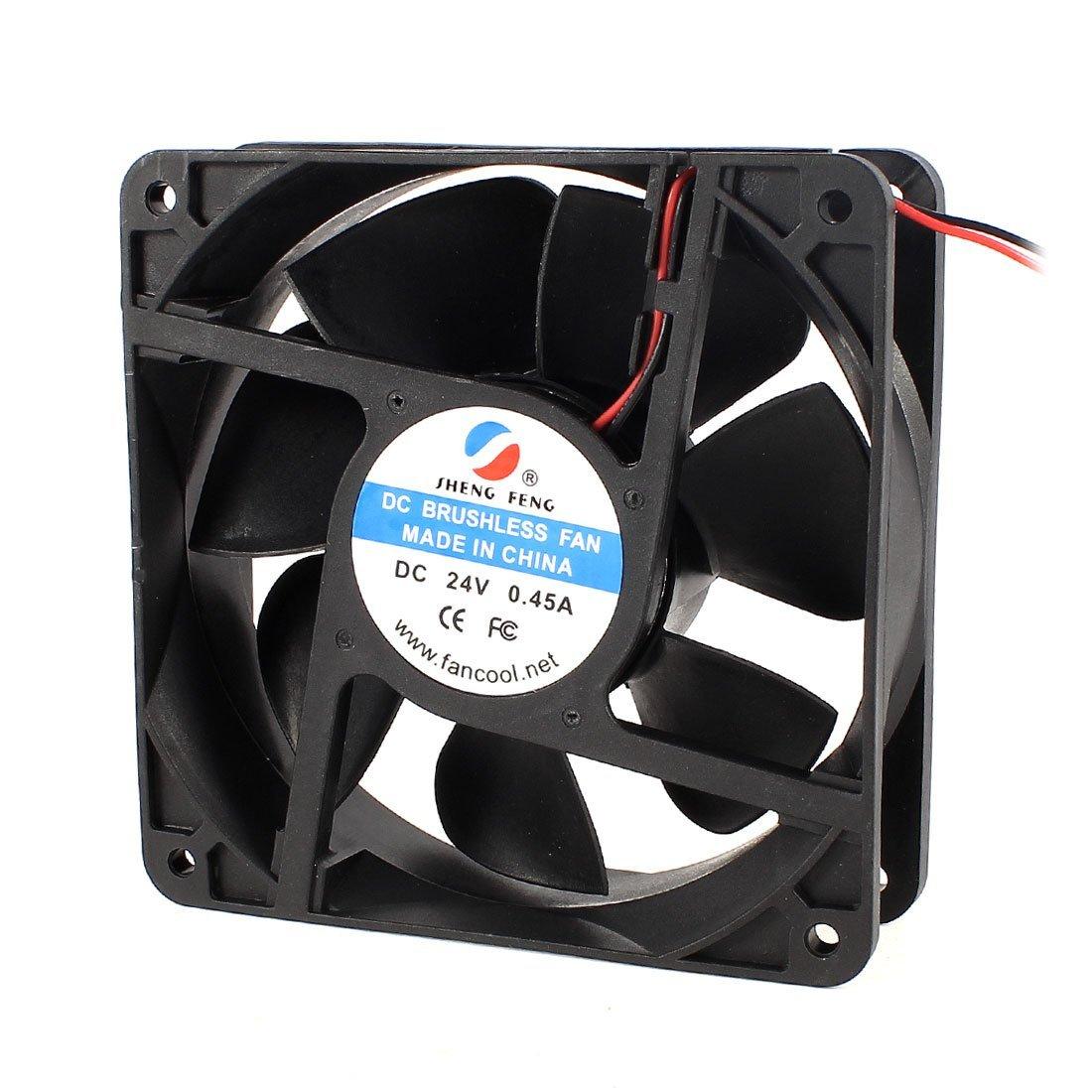 DC 24V 0.45A 120mm ventilador de refrigeración Negro para la caja de la computadora CPU Cooler: Amazon.es: Electrónica