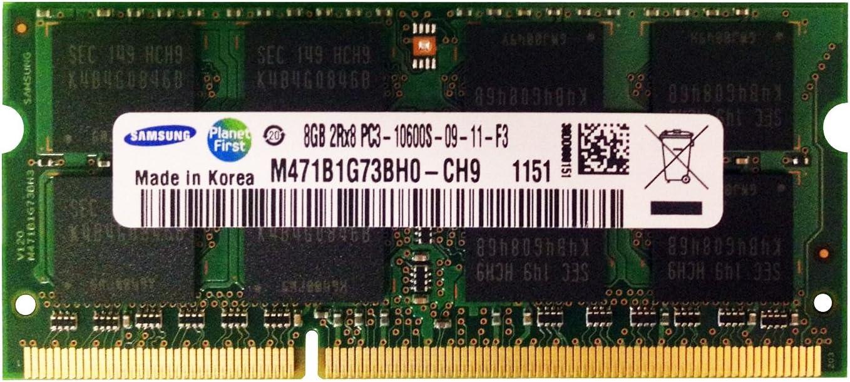 Samsung 8GB 8GBx1 PC3-10600 DDR3-1333MHz Genuine Max 68% OFF SODIMM Mem Laptop CL9