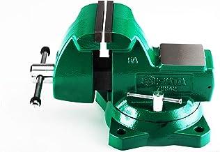 """Morsa Mecânica Com Base Giratória Sata Verde 6"""" - 150mm"""