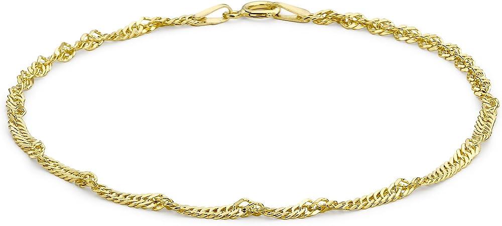 bracciale da donna, in oro giallo 9k (375) carissima gold 1.23.0481