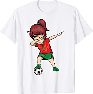 Dabbing Soccer Girl Morocco Jersey Shirt - Moroccan Football