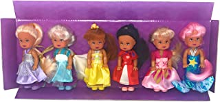 Little Princess Set of 6 Disney Look-A-Like Dolls