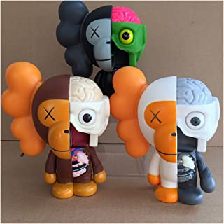 KawJumbo Ape KAWS BFF 8 inch Dissected Companion Original Fake Art Toys Action Figure Figurine Plush Doll Toy Model Statue Accessories Collection Morden Gift with Retail Box
