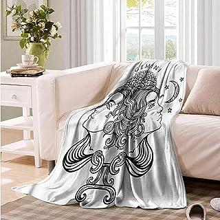 Oncegod Nap Blanket Zodiac Gemini Mystic Happy Sad Bedding Throw, or Blanket Sheet 91