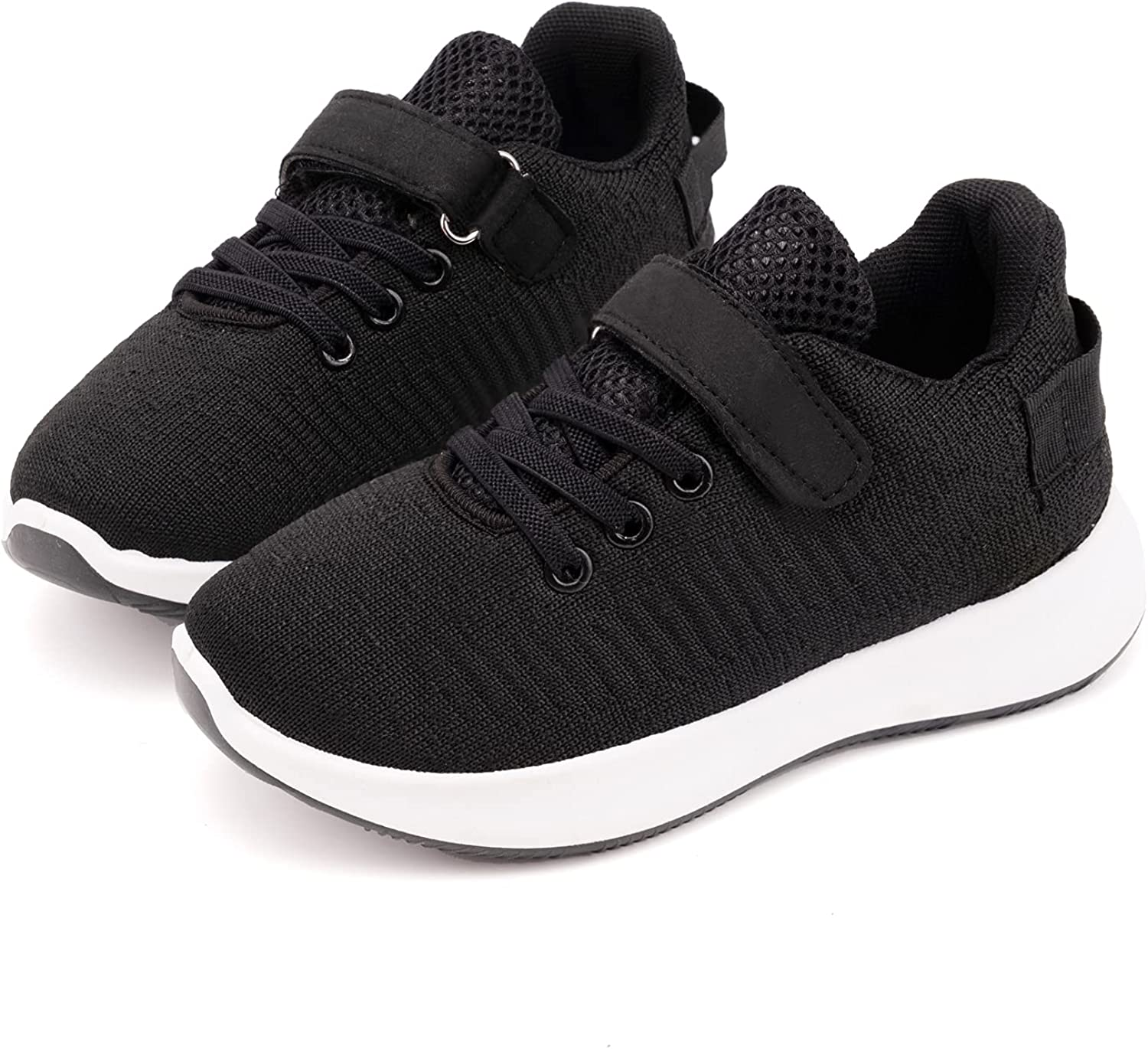 Toandon Toddler Kids Knit Breathable Athletic Sport Sneakers for Age 3-11