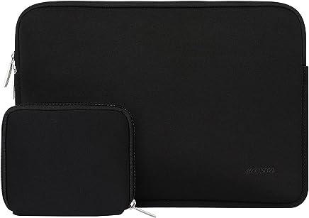 MOSISO Funda Protectora Compatible 13-13.3 Pulgadas MacBook Air/MacBook Pro/Pro Retina/Surface Laptop 2 2018 2017/Surface Book 2/1, Repelente de Agua Neopreno con Pequeño Caso, Negro