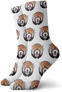 Elsaone, Calcetines de patrón de cabeza de oso loco divertido para niñas y niños