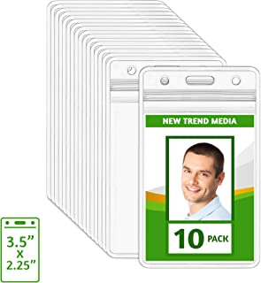 EcoEarth Vertical ID Badge Holder (Sealable 3.5