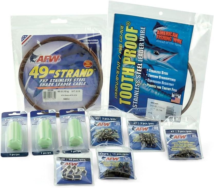 American Ranking TOP1 Fishing Wire Heavy Shark Duty Kit Ultra-Cheap Deals