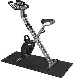 SONGMICS Träningscykel, fitnesscykel, hopfällbar inomhustränare, 8 magnetiska motståndsnivåer, med golvmatta, pulssensor, ...