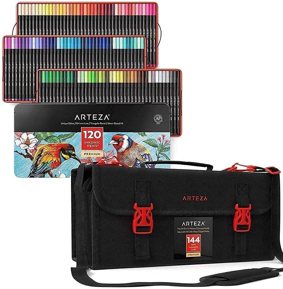 Arteza Fineliner Fashion Fine Point Pens Art Organize supreme and Markers