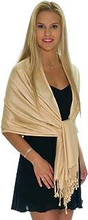 Pashmina Shawls and Wraps - Large Scarfs for Women - Party Bridal Long Fashion Shawl Wrap with Fringe by Petal Rose