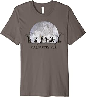 Vintage Halloween Full Moon in Auburn AL Retro Premium T-Shirt