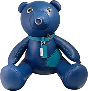 COACH Leather Teddy Bear STAR Collectible (Blue)