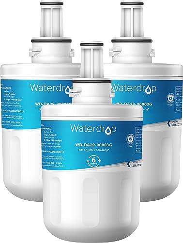 3X Waterdrop DA29-00003G Filtre à Eau du Réfrigérateur, Compatible avec Samsung Aqua Pure Plus DA29-00003G DA29-00003...