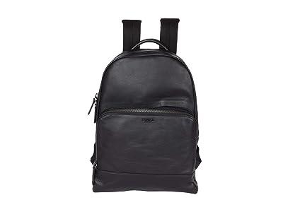 Shinola Detroit Fulton Backpack Smooth Grain Leather GM (Black) Backpack Bags