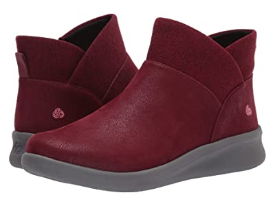 Clarks Sillian 2.0 Dusk (Maroon Synthetic Nubuck) Women