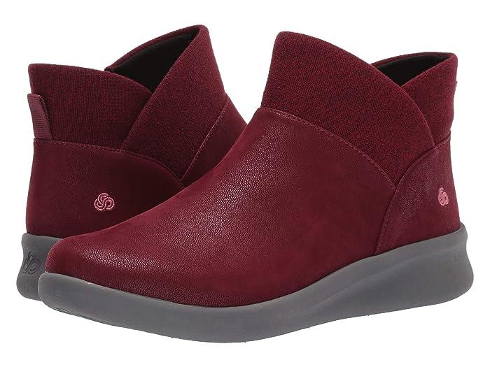 Clarks  Sillian 2.0 Dusk (Maroon Synthetic Nubuck) Womens  Boots