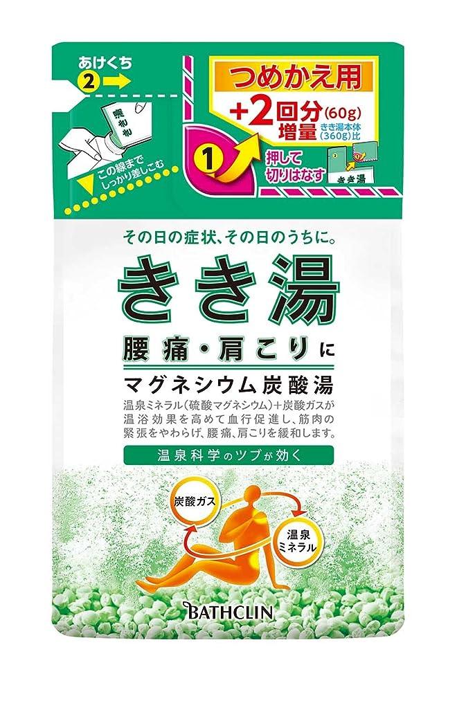 ミント生産的メジャーきき湯 マグネシウム炭酸湯 つめかえ用 420g 入浴剤 (医薬部外品)
