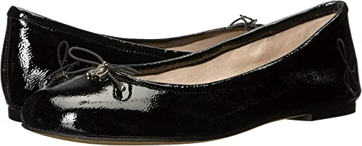 Black Goat Crinkle Patent Leather
