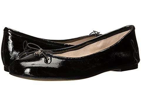 Sam Edelman Shoes , BLACK GOAT CRINKLE PATENT LEATHER