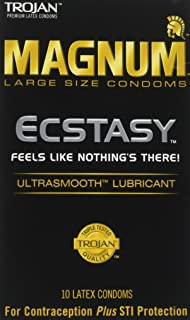 Trojan Condom Magnum Ecstasy Ultrasmooth Lubricated 10Pc - 2 Packs by Trojan