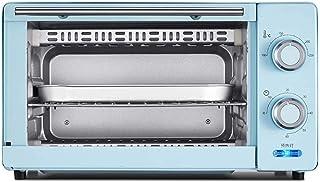 HZY 11L mini horno, horno de banco 1000W 60 minutos Momento Doble Grill Incluye separados escoria bandeja 8 alas de pollo, 8 pulgadas de la torta de gasa (Color: Rosa), Color: Azul ( Color : Blue )