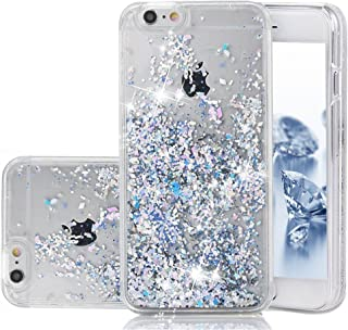 iPhone 6 Case, iPhone 6S Case, Liquid Case, Asstar Fashion Creative Design Flowing Liquid Floating Luxury Bling Glitter Sparkle Diamond Hard Case for For Iphone 6 / Iphone 6S (Silver)
