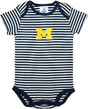 University of Michigan Wolverines Block M Striped Baby Bodysuit