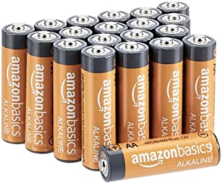 AmazonBasics AA Performance Alkaline Non-Rechargeable Batteries (20-Pack) - Appearance May Vary