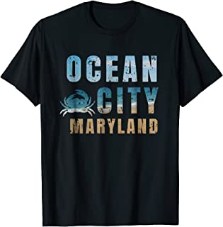 Ocean City Maryland T-shirt - Beach Vacation Blue Crab Shore