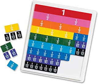 Learning Resources LER0615 Rainbow Fraction Plastic Tiles with Tray 10 x 12.8 x 1.3 inches