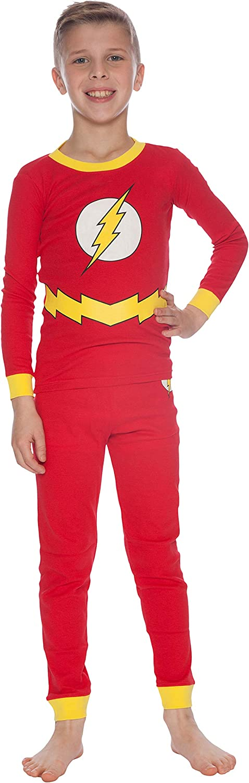DC Comics Boys' Flash Costume Pajama Set: Clothing