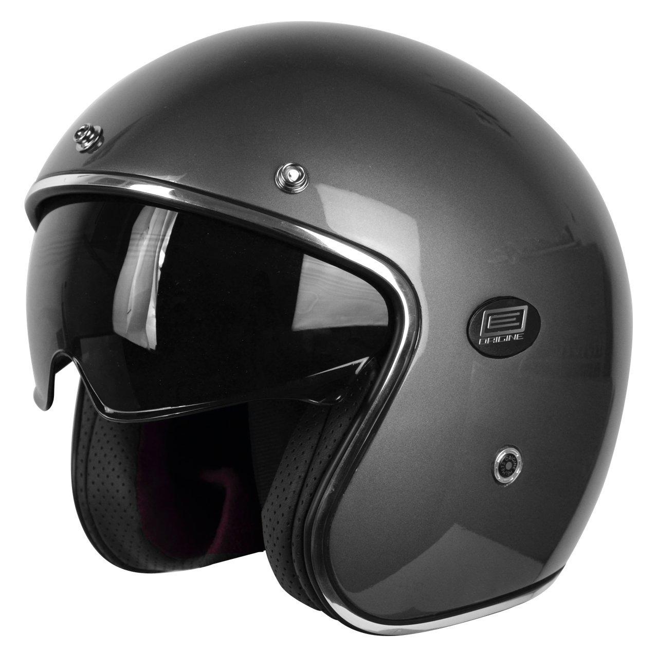 Amazon.es: Origine Helmets 202587013200102 Sirio Solid Gun Casco Jet de fibra de carbono, titanio, XS