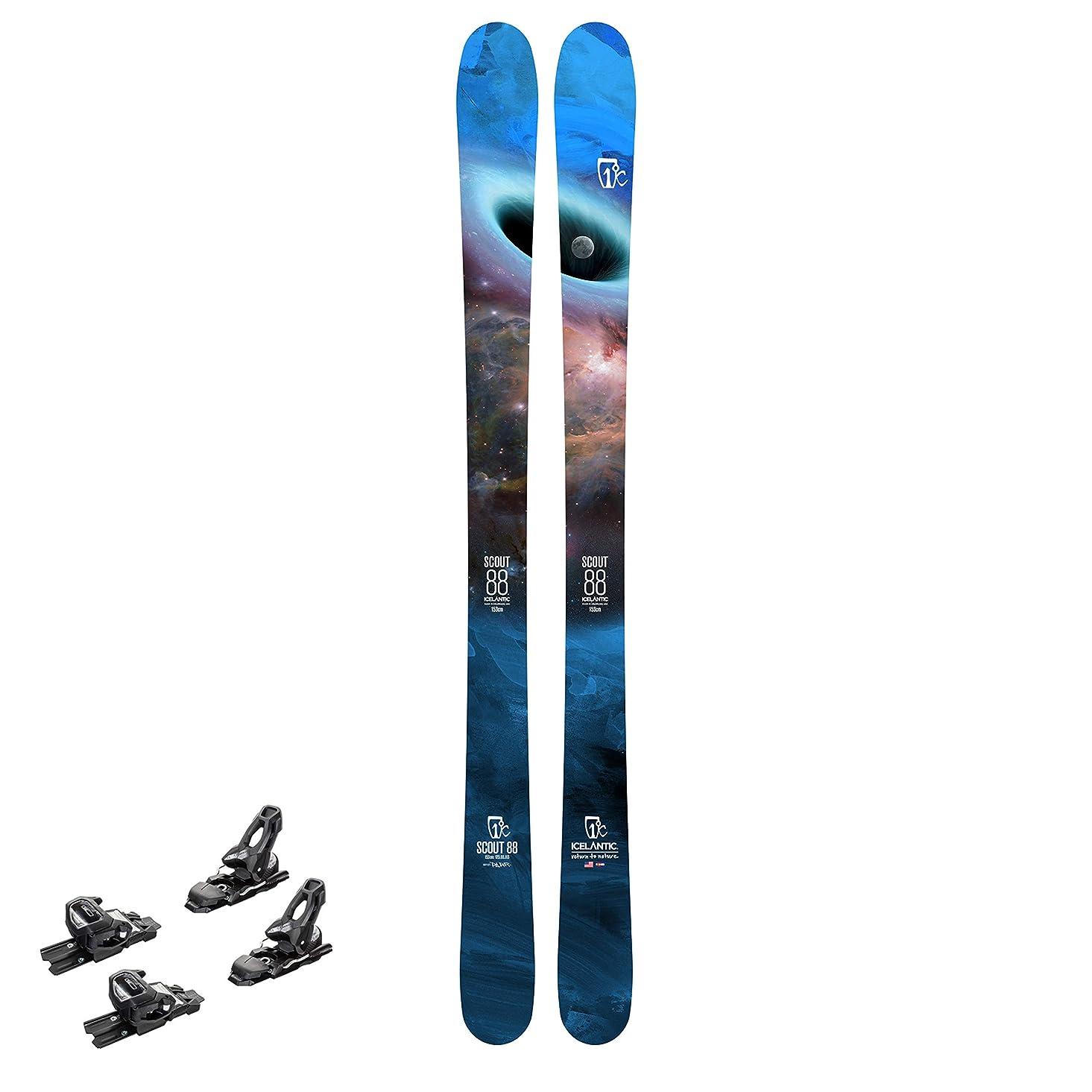 説明的賭けうがい薬スキー板ビンディング付、取付?解放値調整作業込み Icelantic(アイスランティック) 19/20 Scout 88 (金具 Tyrolia(チロリア) AAATTACK2 11 AT DEMO)