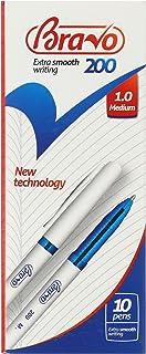 علبة أقلام برافو 200 من ساسكو - عدد 10 قلم - أزرق